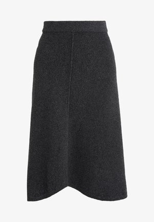 COROLLA - Áčková sukně - dark grey
