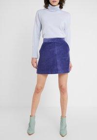 MAX&Co. - DOGANALE - Áčková sukně - light blue - 0