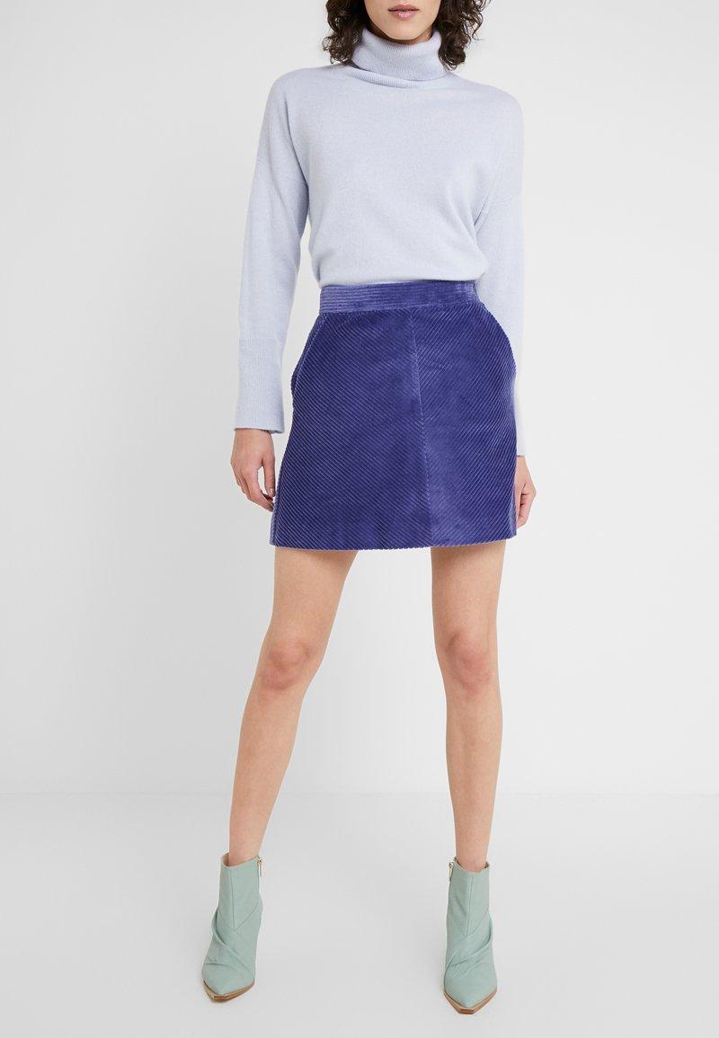 MAX&Co. - DOGANALE - Áčková sukně - light blue