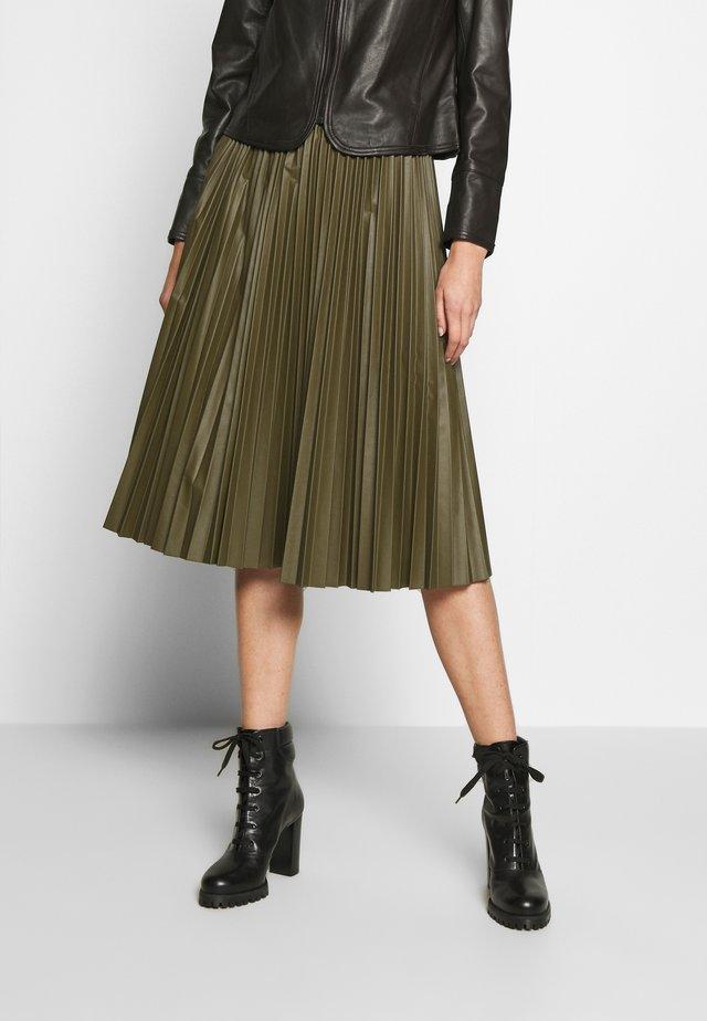 DARINA - Áčková sukně - khaki green