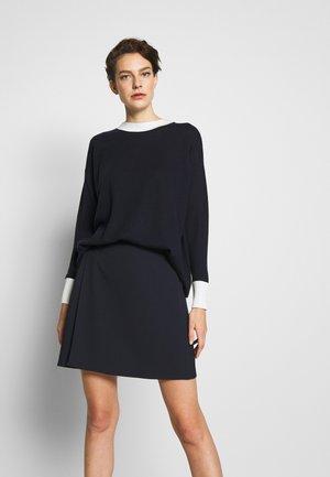 CANALI - A-line skirt - midnight blue