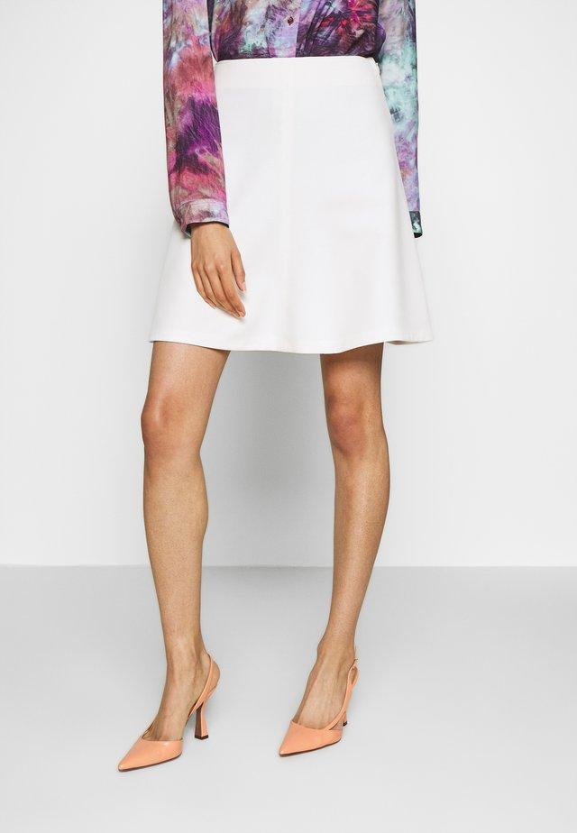 CAFFEINA - A-snit nederdel/ A-formede nederdele - white
