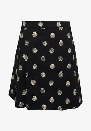 DISCORSO - Áčková sukně - black pattern