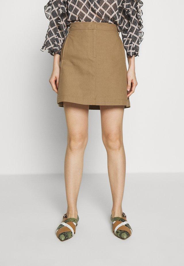 CAVILLO - Áčková sukně - brown