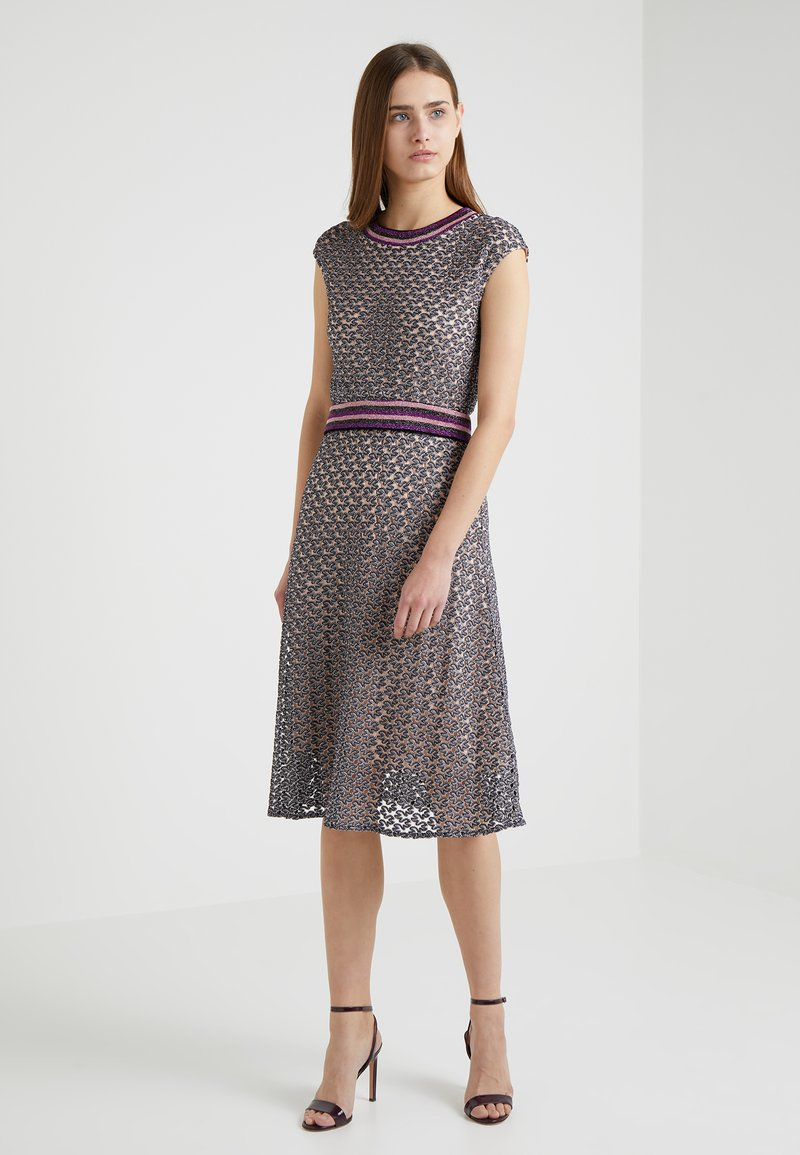 MAX&Co. - PRESENZA - Strickkleid - lilac pattern