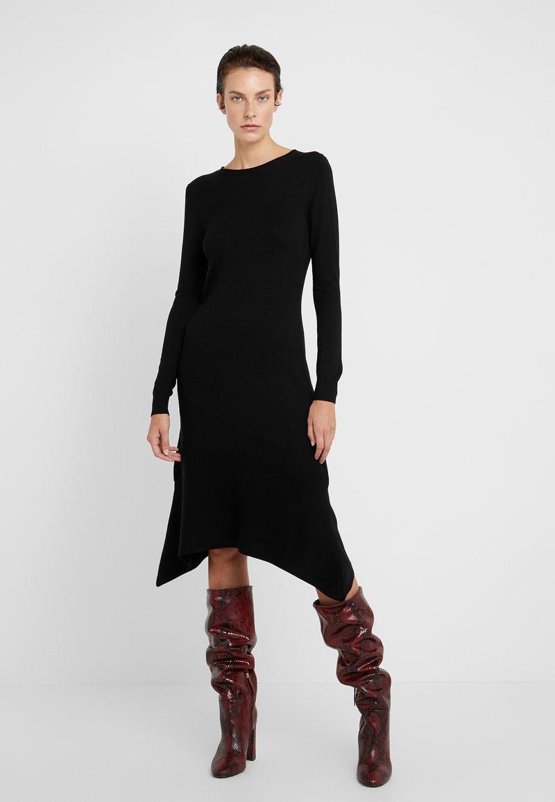 MAX&Co. - CORDOVA - Gebreide jurk - black