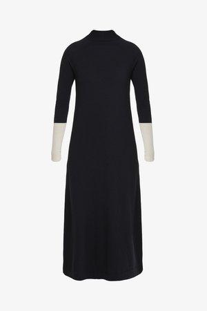 IMEIDE - Strikket kjole - black