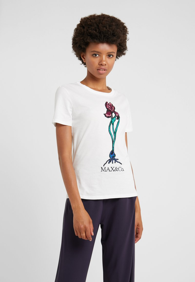 MAX&Co. - DOPPIERE - T-shirts print - ivory