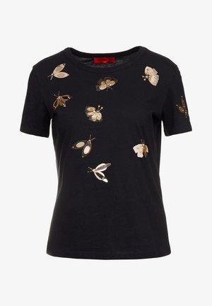DRAGONE - Print T-shirt - black