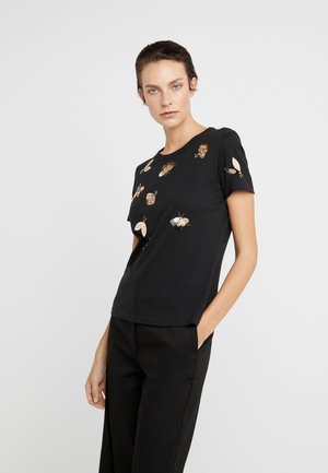 DRAGONE - T-shirt z nadrukiem - black
