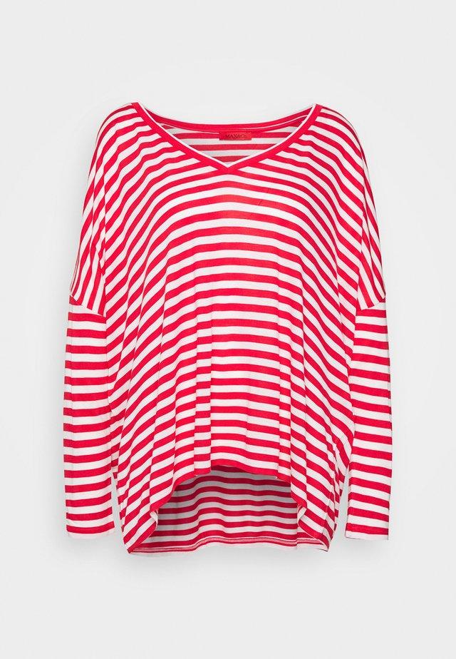 CESARE - Top sdlouhým rukávem - bullina red/attiliosa white