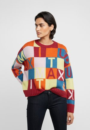 DORALICE - Jersey de punto - burgundy pattern
