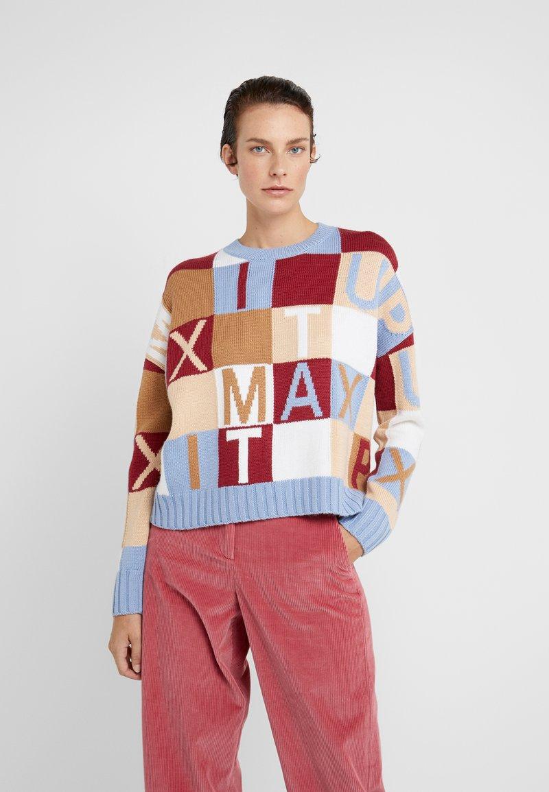 MAX&Co. - DORALICE - Jumper - light blue pattern