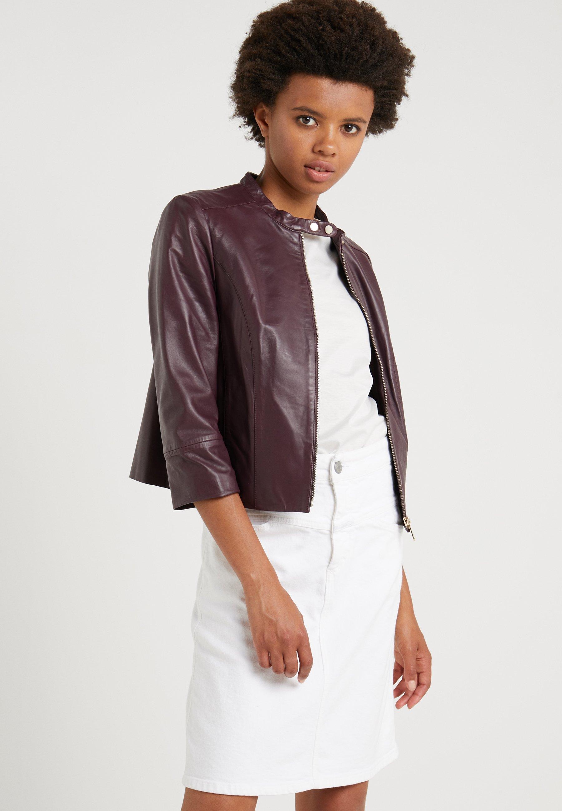MAX&Co. DENOTARE - Veste en cuir plum