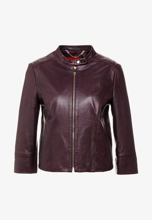 DENOTARE - Leather jacket - plum