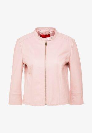 DENOTARE - Leren jas - pink