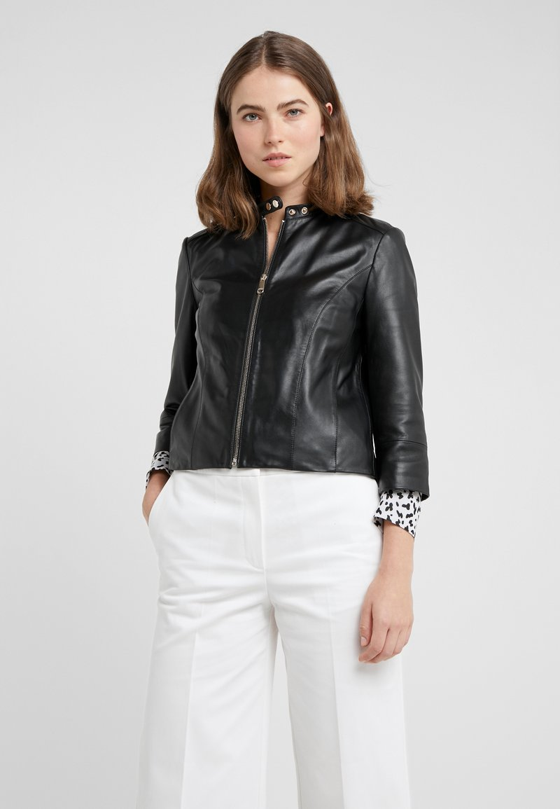 MAX&Co. - DENOTARE - Leather jacket - black