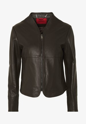 DEPONETE - Leather jacket - dark brown