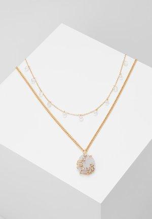 ADORARE - Necklace - white// light gold-coloured
