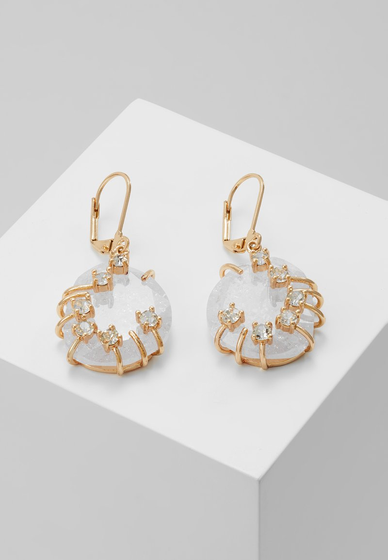 MAX&Co. - AFELIO - Pendientes - white/crystal/ light gold-coloured