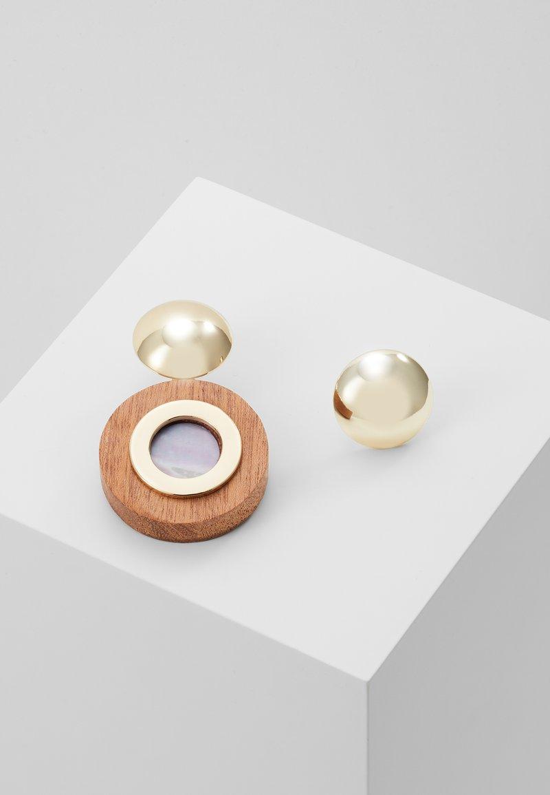 MAX&Co. - AFFABILE - Boucles d'oreilles - light gold-coloured/wood