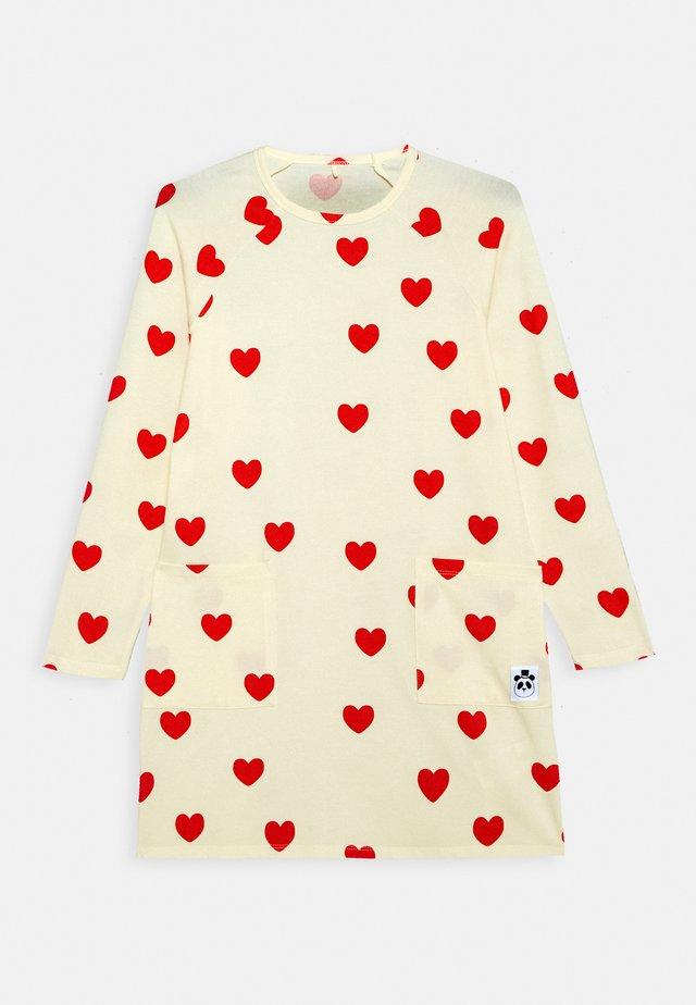 HEARTS DRESS - Jerseykjole - off white