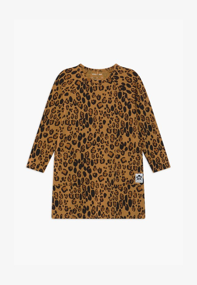 BASIC LEOPARD  - Jersey dress - beige
