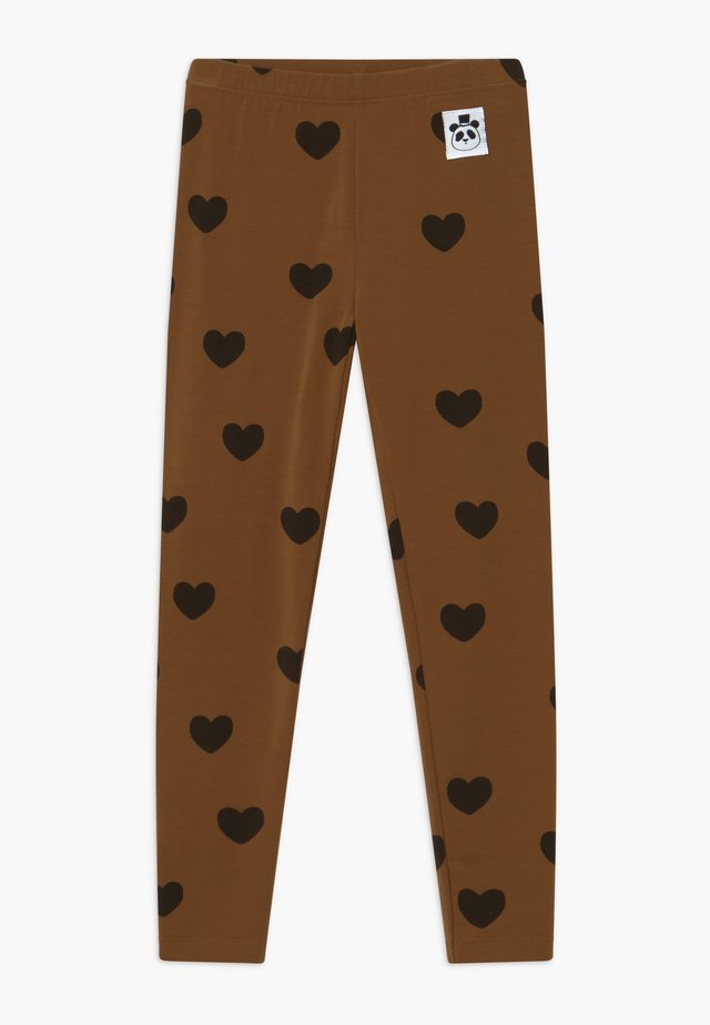 HEARTS - Legging - brown