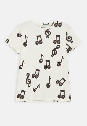 NOTES TEE - Camiseta estampada - offwhite