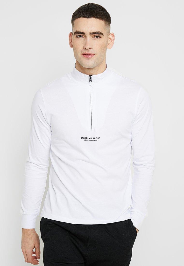 Marshall Artist - SIREN ZIP NECK - Long sleeved top - white
