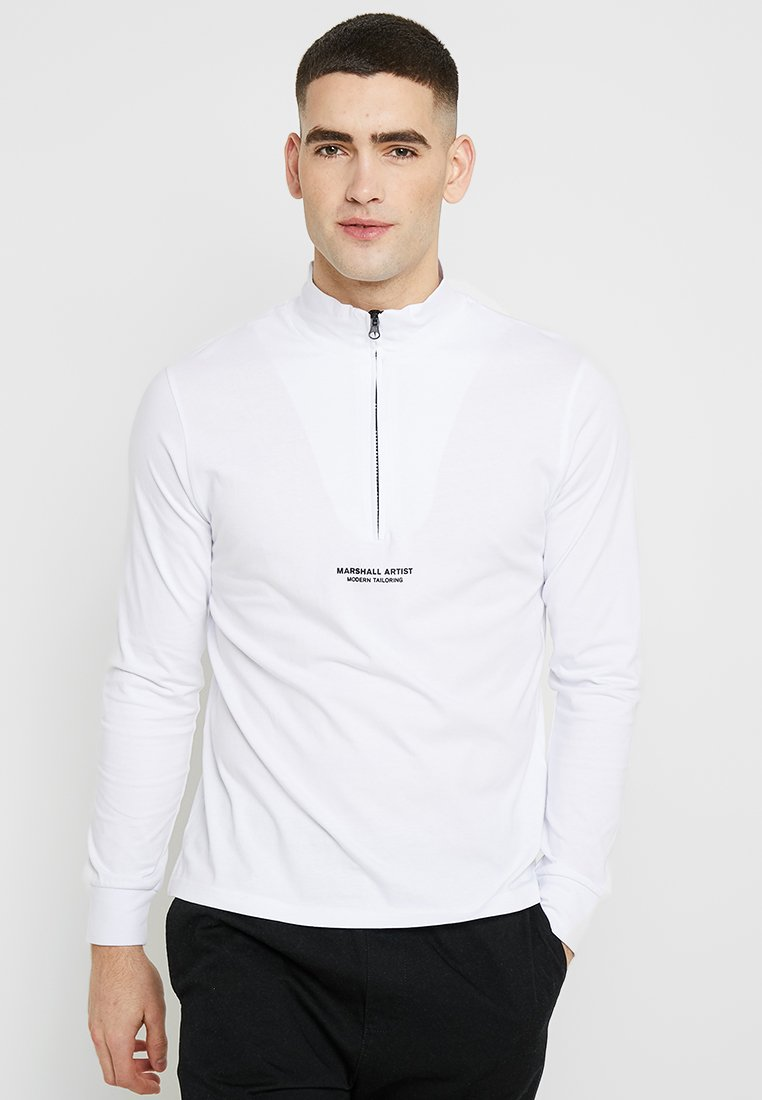 Marshall Artist - SIREN ZIP NECK - Long sleeved top - white