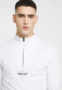 Marshall Artist - SIREN ZIP NECK - Long sleeved top - white - 3