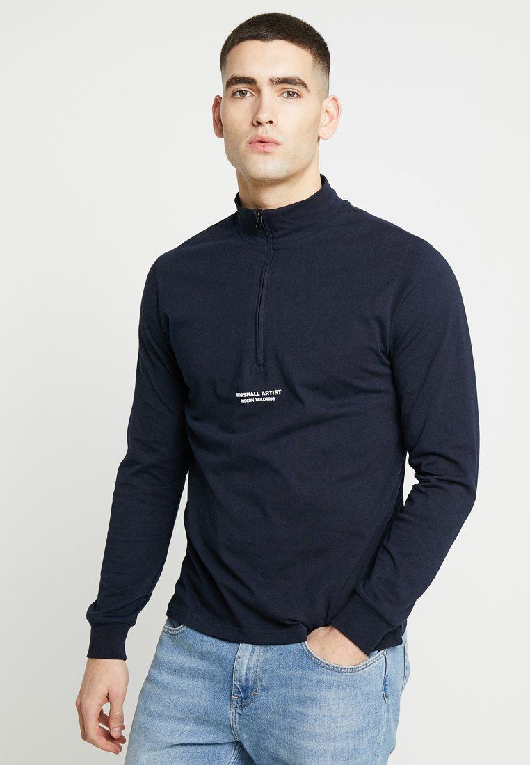Marshall Artist - SIREN ZIP NECK - Long sleeved top - navy