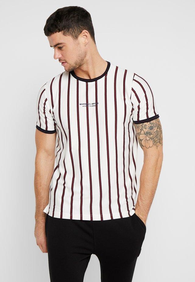 PINSTRIPE - T-shirt print - white