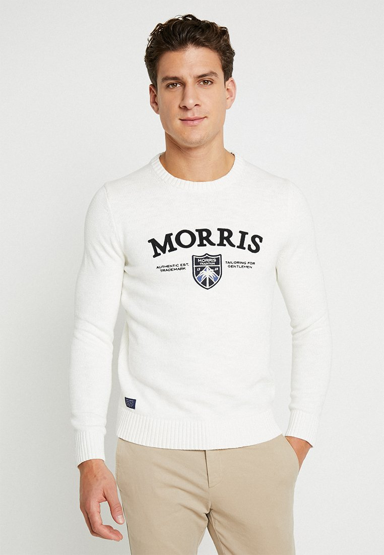 Morris - KEATON O NECK - Jumper - off white
