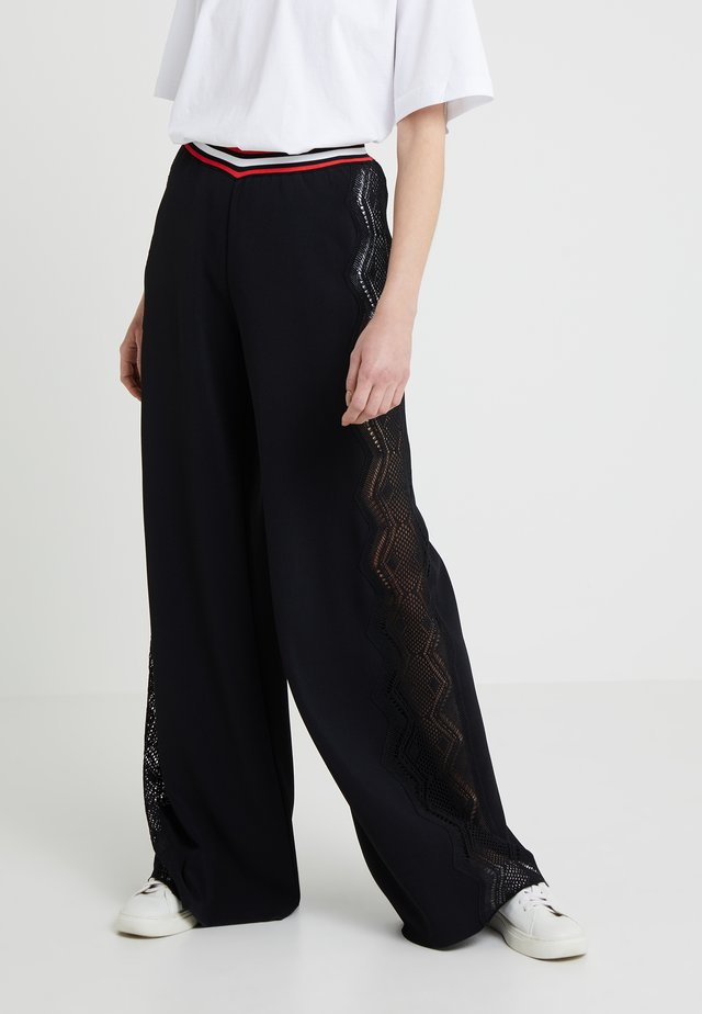 PANTALONE PIZZO - Trousers - black