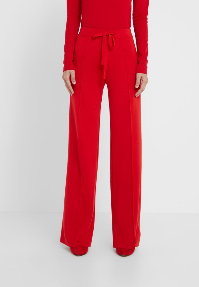 PANTALONE - Trousers - red