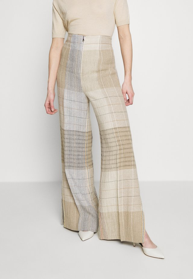 KARO PANT - Trousers - brown