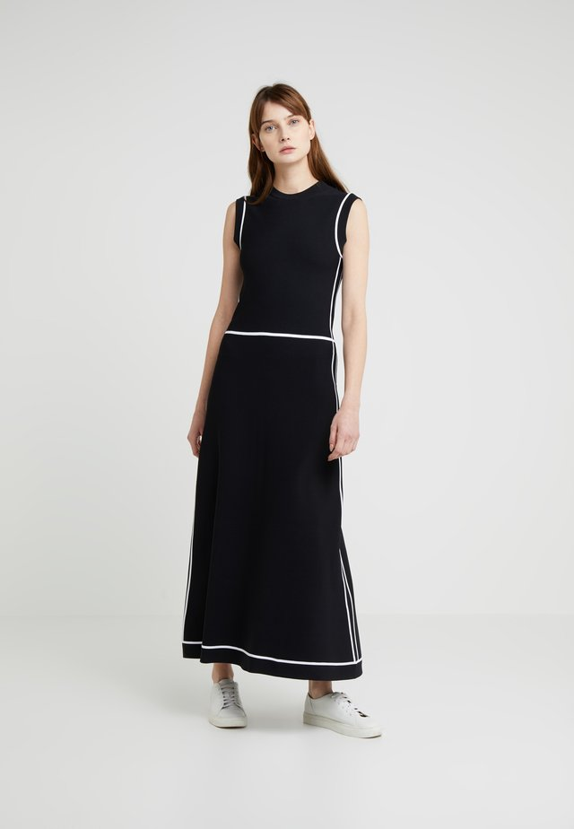 ABITO INTARSIA - Maxikleid - optical white/black