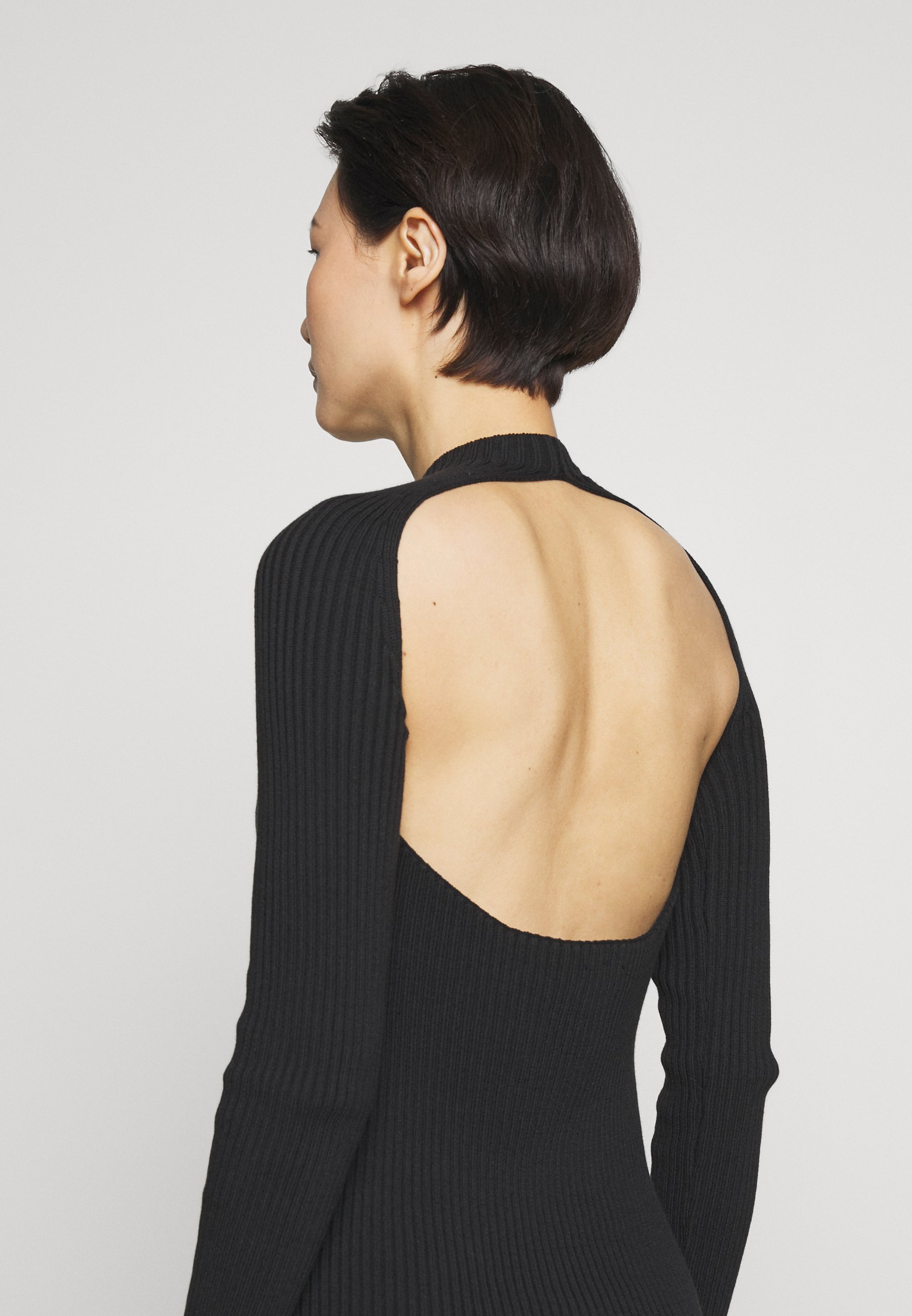 Mrz Open Back Knit Dress - Jumper Black
