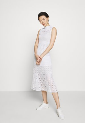 SEETHROUGH DRESS - Abito in maglia - white