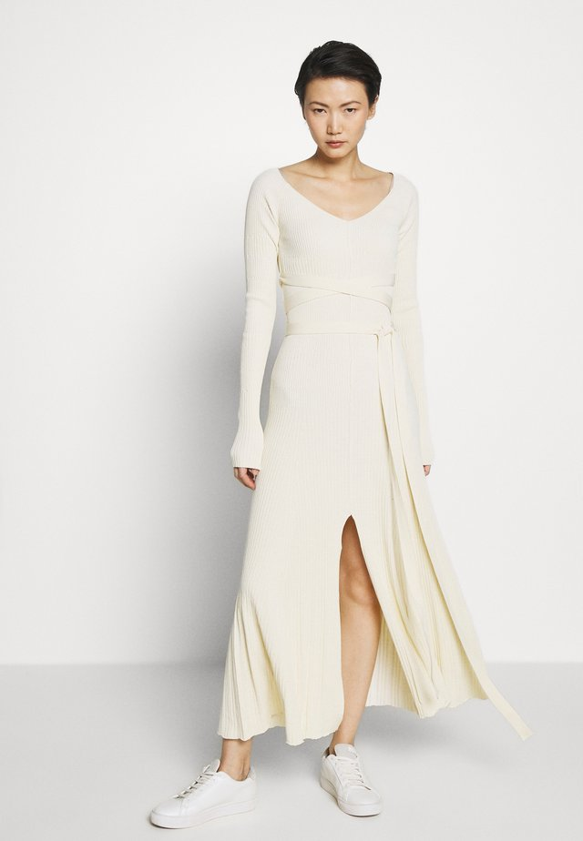 LONGSLEEVE DRESS - Maxikjoler - off-white