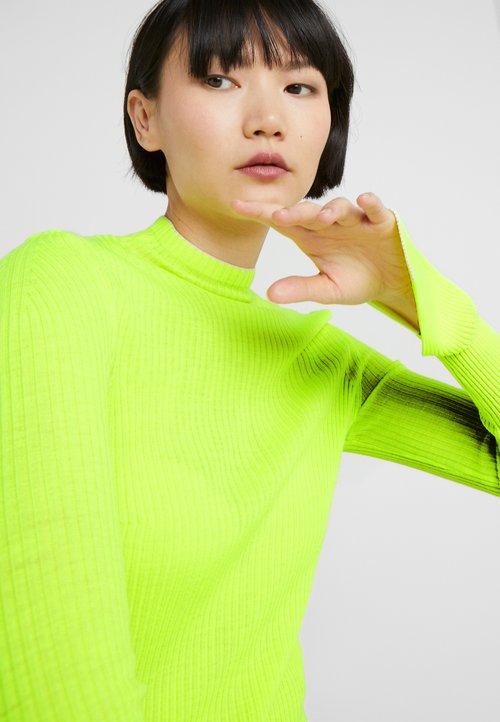 tani MRZ CRATERINO COSTE - Sweter - neon yellow Odzież Damska ZIYA-NS9