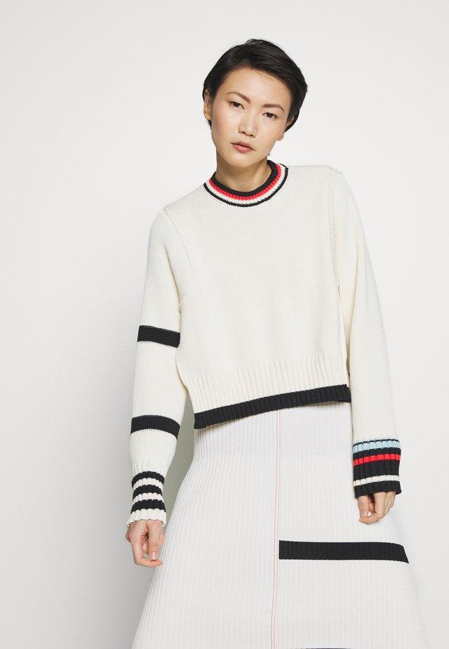 STRIPE - Pullover - beige