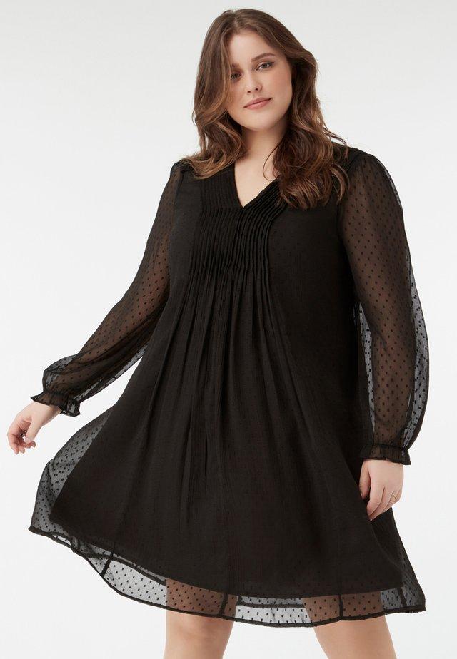 VOILE - Korte jurk - black