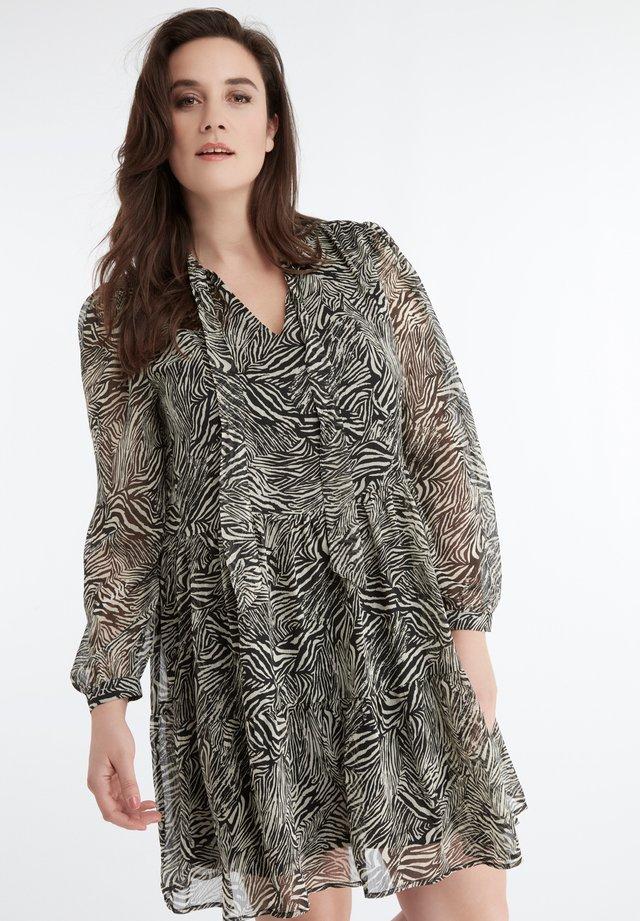 zebra  - Korte jurk - black