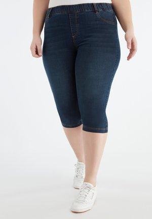 CAPRI TREGGINGS - Denim shorts - blue