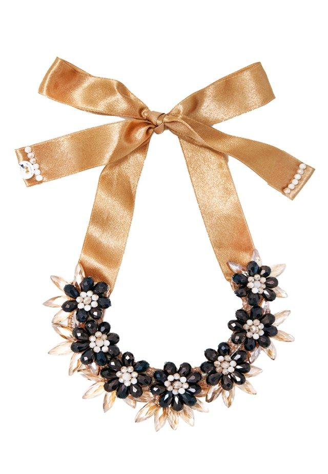 Necklace - gold´n black