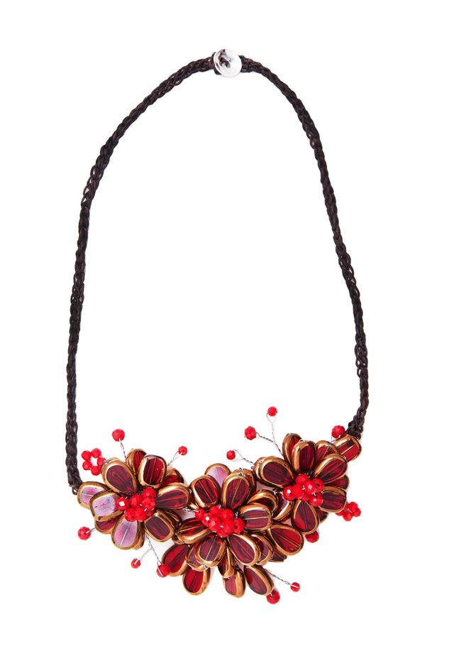 MANOU - Necklace - ruby red
