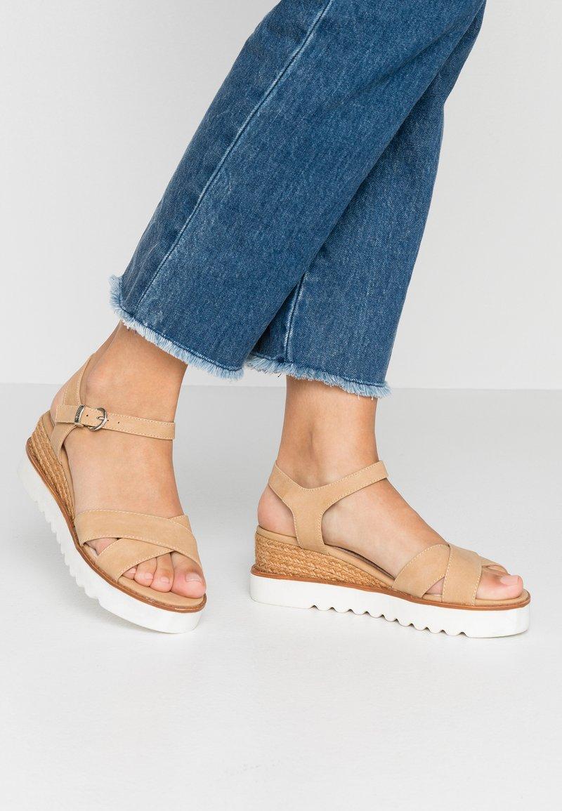 mtng - Platform sandals - tan